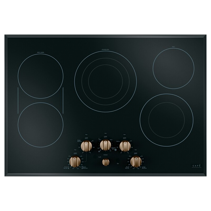 Built In Copper Knob Control Electric Cooktop