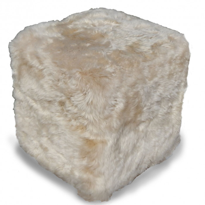 Sheepskin Square Pouf by Belle and June