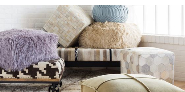 Various Accent Poufs for Home decor