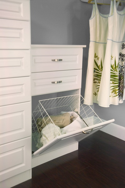 Custom Wire Laundry Basket in Pull Out Drawer
