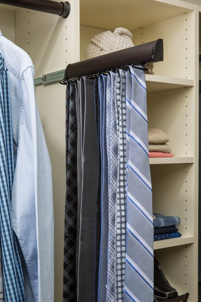Custom Pull Out Closet Tie Rack