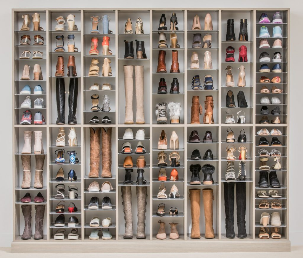 Custom Wall of Shoes