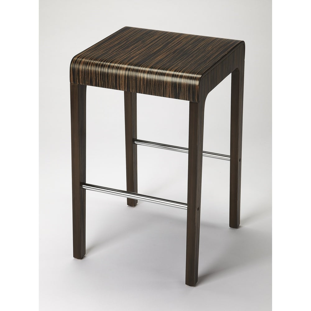 Butler Blach Zebrawood Counter Stool