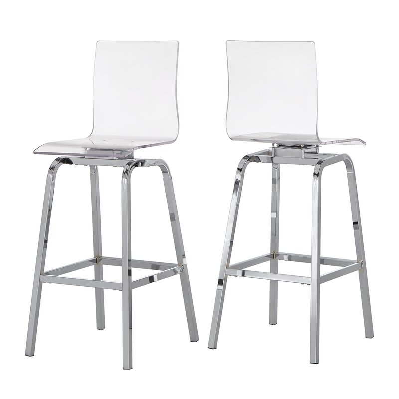 Clear Acrylic Daphne Swivel Bar Stools