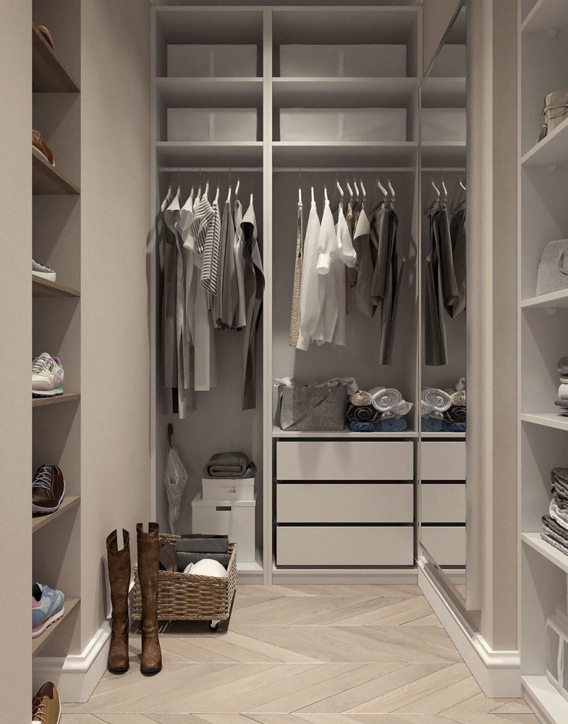 Closet with Extra Hanging Space
