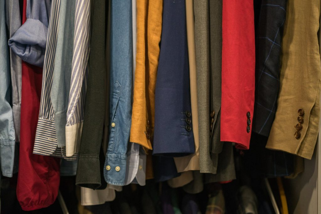 Cluttered Hanging Clothes