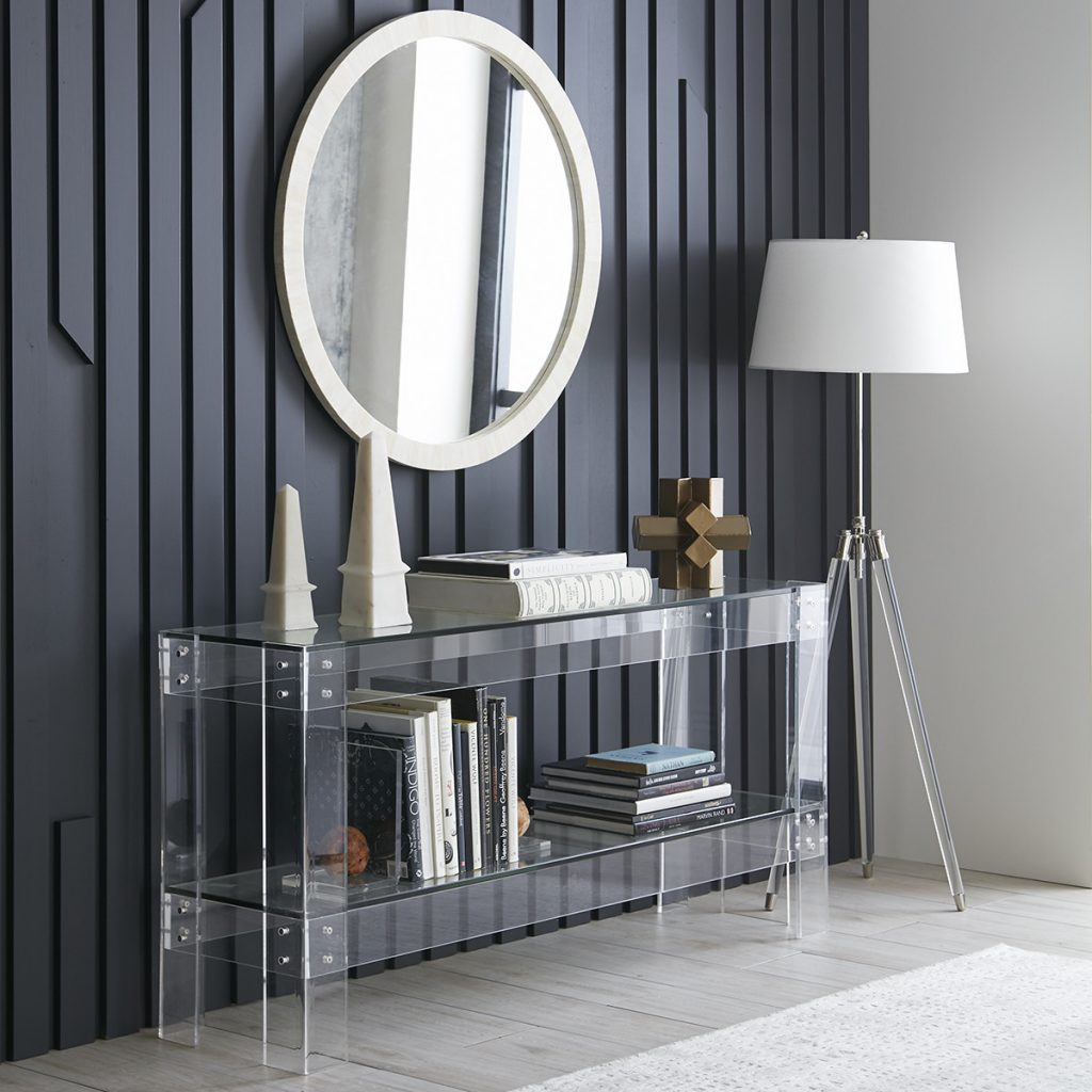 Disappearing Clear Acrylic Console Table by Wisteria