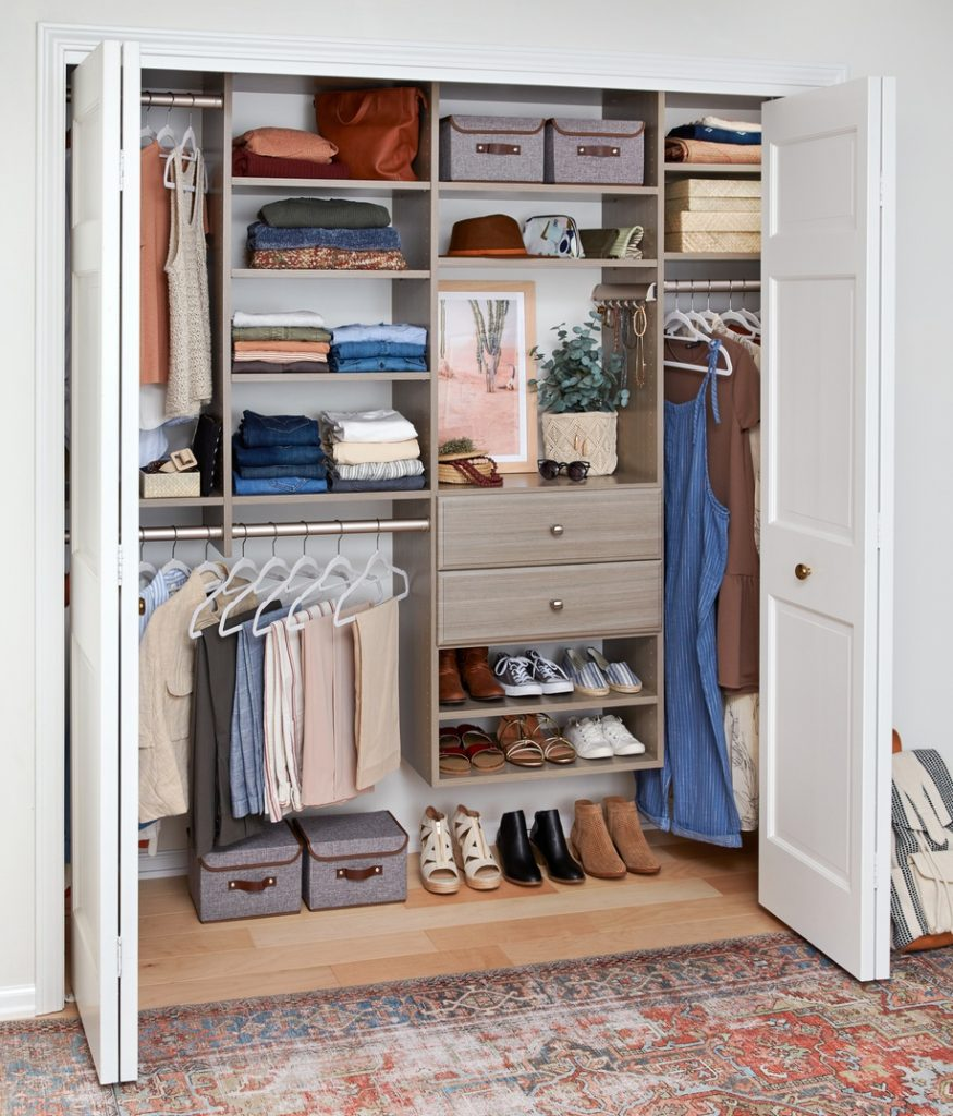 Organized Closet with Decorative Accents