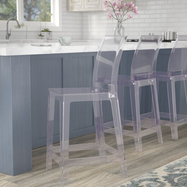 Willa Arlo Interiors Acrylic Darchelle Bar Counter Stool