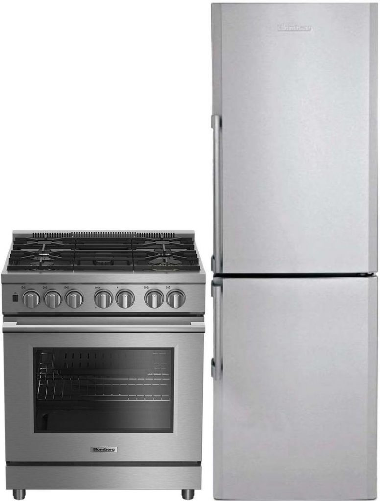 Blomber 2 Piece Stainless Steel Appliance Package