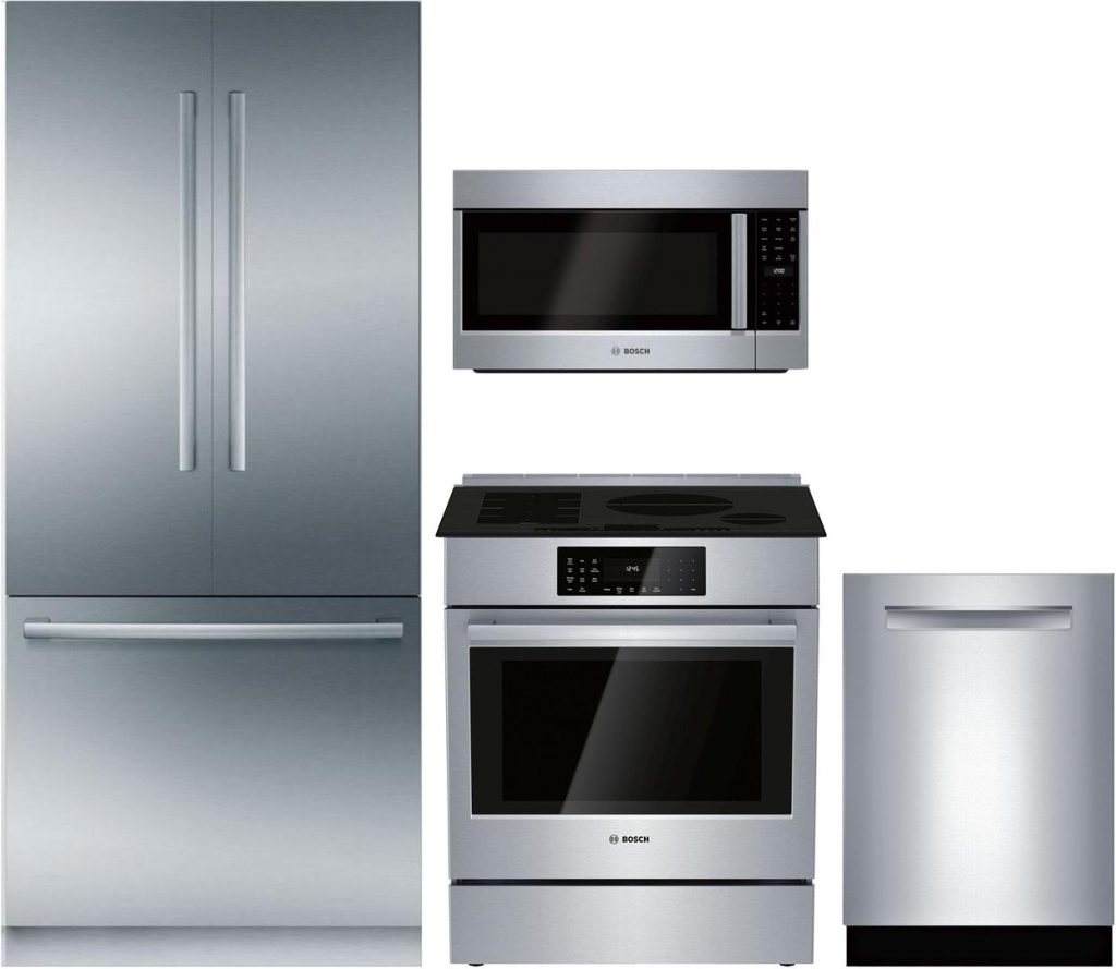 Bosch Kitchen Appliance Package with Different Handles
