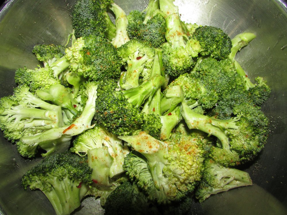 Broccoli in Marinade for Grilling