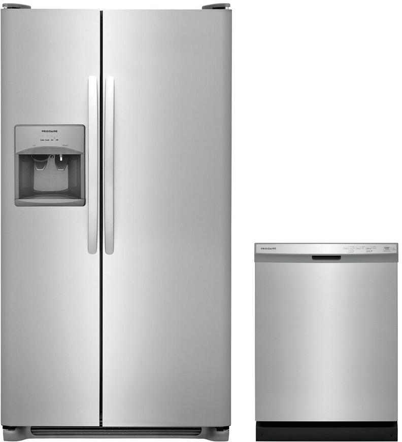Frigidaire Stainless Steel Refrigerator and Dishwasher Appliance Package