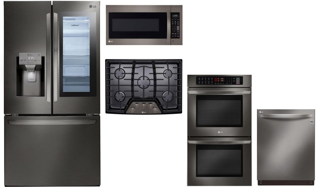 LG-5-Piece-Black-Stainless-Steel-Kitchen-Appliance-Package