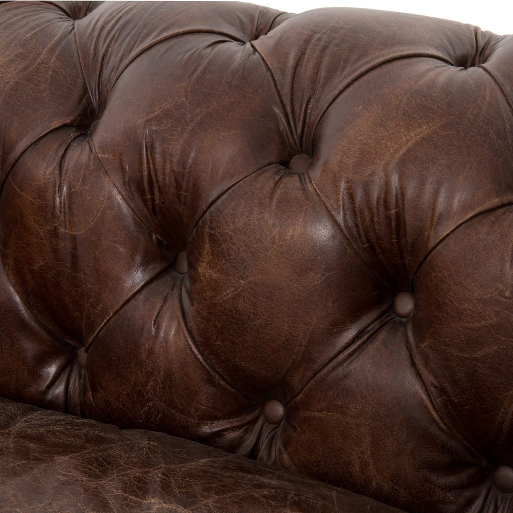 Button Tufting on Classic Chesterfield