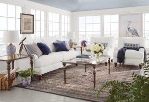 Beachy Themed Living Room