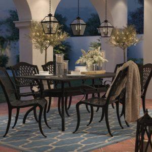 Patio Dining Set Area Rug