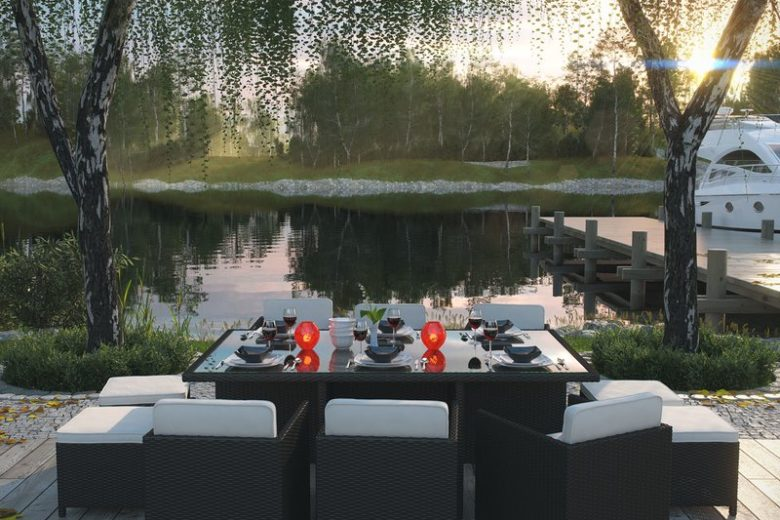 Outdoor Patio Setting - Ready for a Backyard Party
