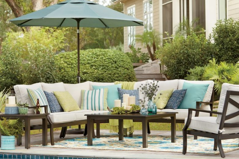 Sunbrella Cushioned Outdoor Sectional