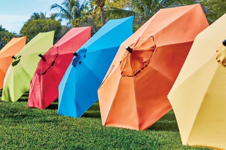 Colorful Market Umbrellas