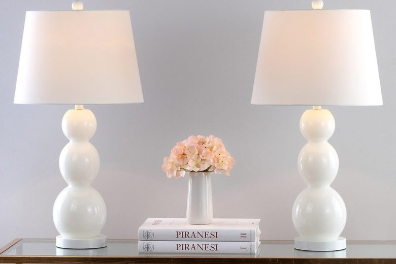 White table lamps - on sale