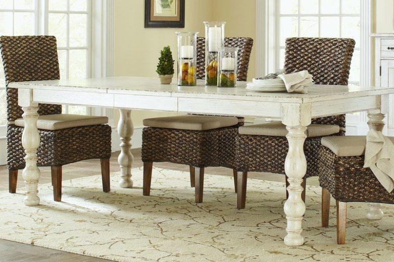Farmhouse Harvest Styled Extendable Dining Table