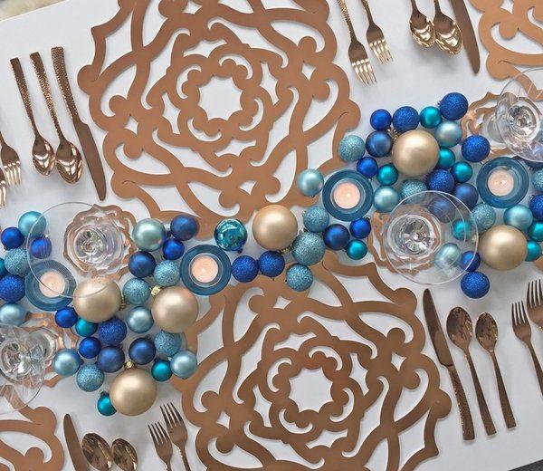 Gold Salone Cutwork Placemat