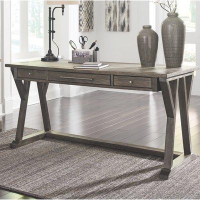 Gracie Oaks Beesley Grey Wood Home Office Desk