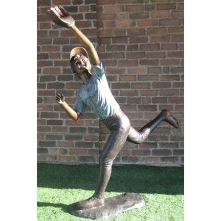 Lifesized Baseball Outfielder Statue in Bronze