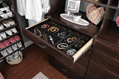 Custom Closet Drawer with Jewelry Organizer